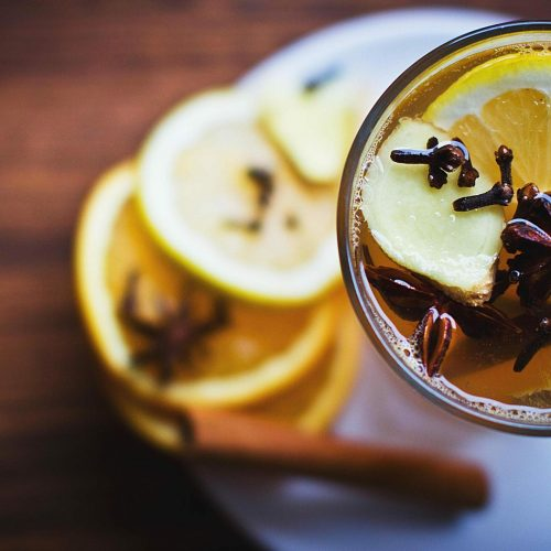 cinnamon, lemon, mulled wine, non-alcoholic, spices, vanilla, healthy